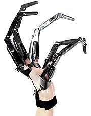Halloween gelede vingers, horror skelet handen voor uitbreiding handschoenen Cosplay klauwen Extender Wearable, lange been Reaper handschoenen voor Halloween Props decoraties (wit, rechterhand)