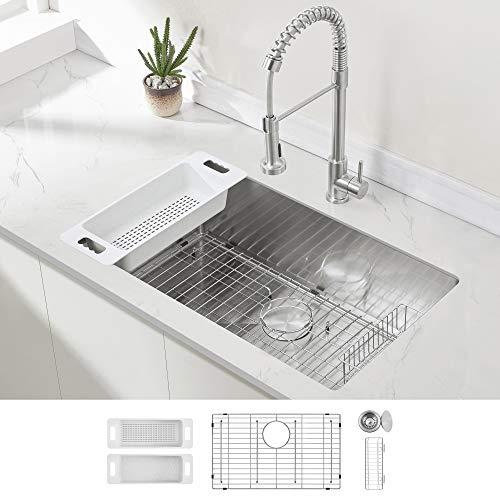 ZUHNE Modena 32-Inch Stainless Steel Undermount Kitchen ...