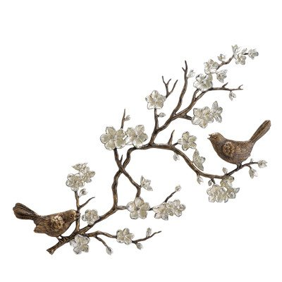 Bids and Blossom Garden Wall Plaque
