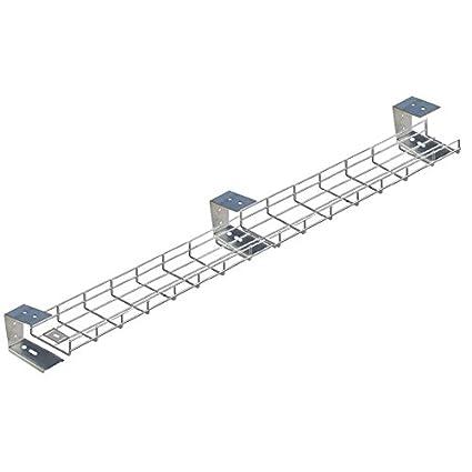 3000 mm bajo escritorio cesta bandeja x 3 hangrails