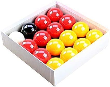 Rojo y amarillo 5,08 cm bola de billar con 4,78 cm bola blanca ...