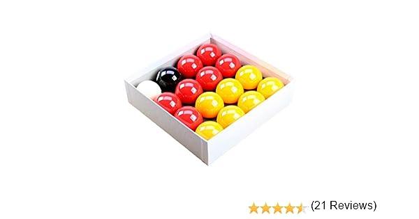Rojo y amarillo 5,08 cm bola de billar con 4,78 cm bola blanca para mesas Mech de la moneda: Amazon.es: Deportes y aire libre