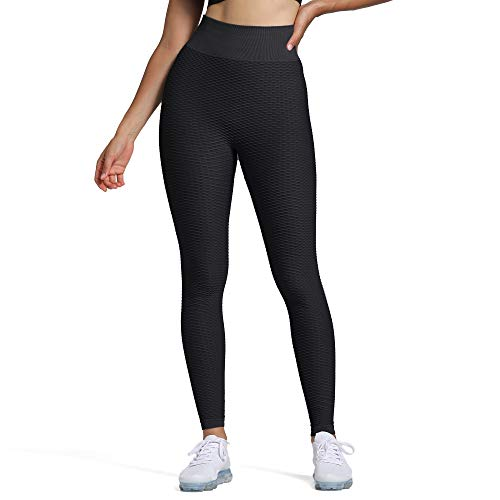 Aoxjox Gym Seamless Leggings for Women Workout Sprot Zero Flaws Thick High Waisted Leggings(Black, Small)