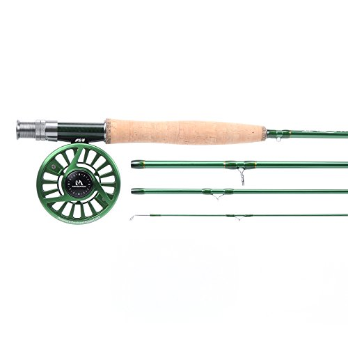 Maxcatch Premier Fly Fishing Rod with Avid Fly Reel (Includes Rod case) 3/4,5/6,7/8wt (Model03, 9ft 7wt+7/8wt) ()