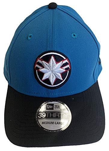 - Captain Marvel Movie Star Force PX Neo New Era 39Thirty Flexfit Cap Hat Medium/Large