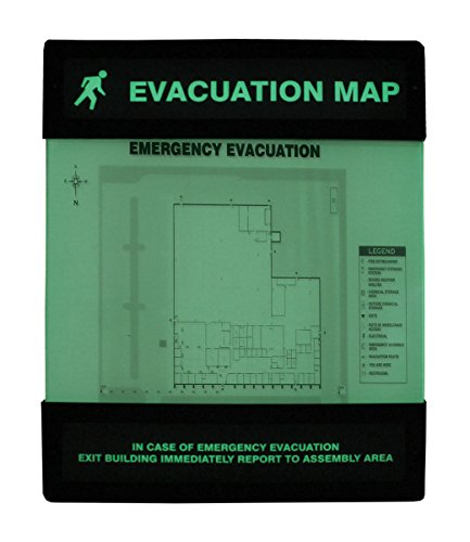 Accuform DTA238 Lumi-Glow Evacuation Map Holder, Plastic, 8.5