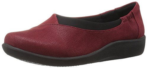 Clarks Womens Cloudsteppers Sillian Jetay Flat Cherry