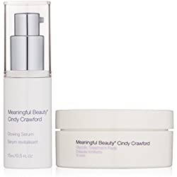 Meaningful Beauty by Cindy Crawford – Glowing Skin Hydration Kit – Glycolic Treatment Pads – Glowing Serum – MT.2062