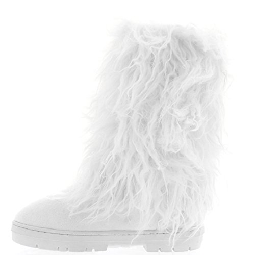 Holly Womens Long Covered Rain Winter Warm Tall Snow Boots White 88nTd