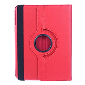 JJE360 Degree Rotating PU Leather Case with Stand for Samsung Galaxy Tab 3 10.1 P5200 (Assorted Colors) , Red