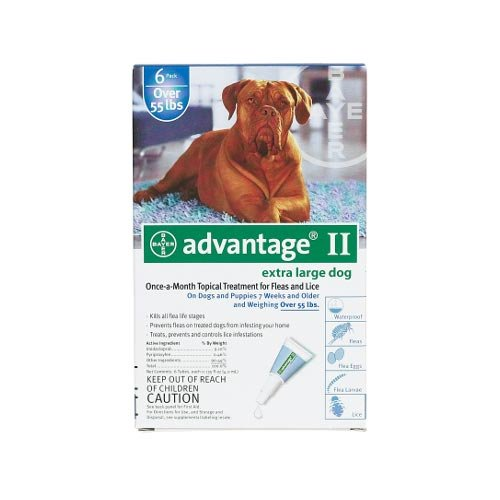 Flea Control For Dogs And Puppies Over 55 Lbs 6 Month Supply