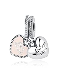 PAHALA 925 Strling Silver Best Friends Always There Pendant Charm Bead