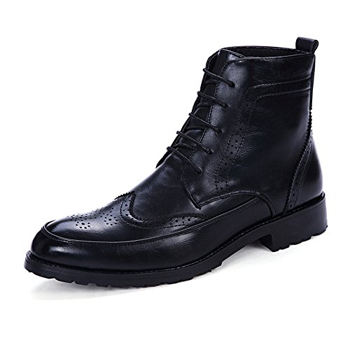 Men Men Sintetica Nero Anti Occasions Occasions Oxford Scarpe Boots Scivolo Dimensione Pelle for EU Morbida Casual Color Daily Bangxiu Stivaletti all 38 in for Marrone 8EqwB0B