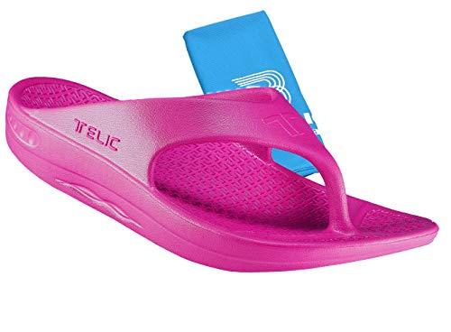 (Telic Unisex Arch Support Flip Flops & Bob Sports Towel Shoe | $55 Value)