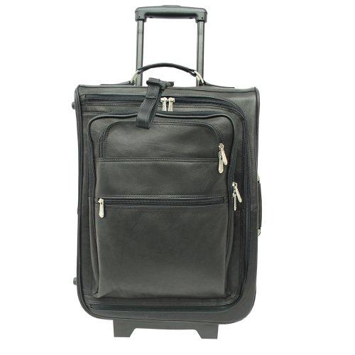 - Piel Leather 19 Inch Multi-Pocket Wheeler, Black, One Size