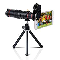 Yarrashop 高画質 22倍HDスマホ望遠レンズ クリップ式レンズ iphon...