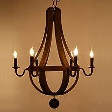 LightInTheBox Vintage Amercian Rustic Wooden Pendant Wine Barrel Chandelier Lamp Living and Bedroom Ceiling Light Fixture Chandeliers
