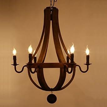 LightInTheBox Vintage Amercian Rustic Wooden Pendant Wine Barrel Chandelier  Lamp Living And Bedroom Ceiling Light Fixture