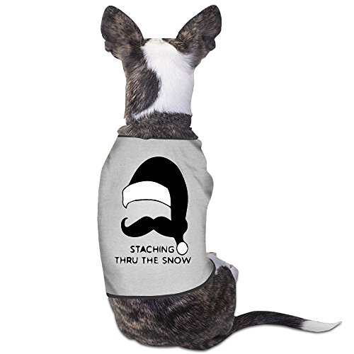 Theming Mustache Christmas - Staching Thru The Snow Dog Vest
