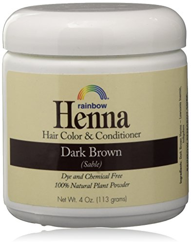 Rainbow Henna Persian Dark Brown Hair Color 4 Oz, (2 pack) ()