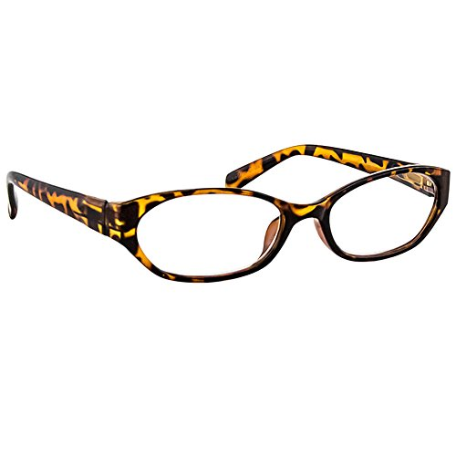 Reading Glasses Tortoise _ Always have a Stylish Look & Crystal Clear Vision When You Need It! _ Comfort Spring Arms & Dura-Tight Screws _ 100% Guarantee - Designer Cheater Glasses