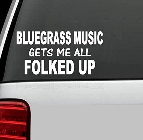 J1017 BLUEGRASS MUSIC Banjo Fiddle Mandolin Decal Funny -