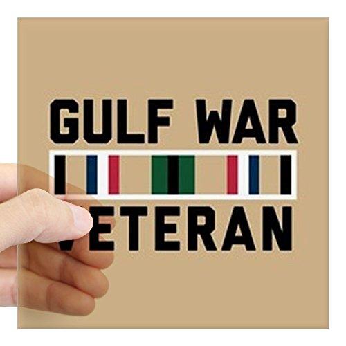 "CafePress Gulf War Veteran Square Sticker 3"" X 3 Square Bumper Sticker Car Decal, 3""x3"" (Small) or 5""x5"" (Large)"