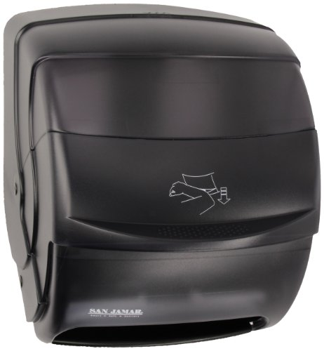 San Jamar T850TBK Black Pearl Integra Plastic Lever Roll Towel Dispenser (Plastic Towels)