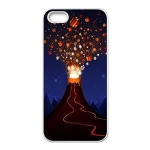 Iphone 5,5S Christmas Phone Back Case Customized Art Print Design Hard Shell Protection LK081546