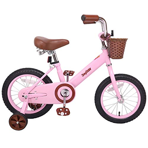 JOYSTAR 16 Inch Kids Bike with Training Wheels for 4 5 6 7 Years Old Girls, Kids Bicycle with Front Basket, Pink