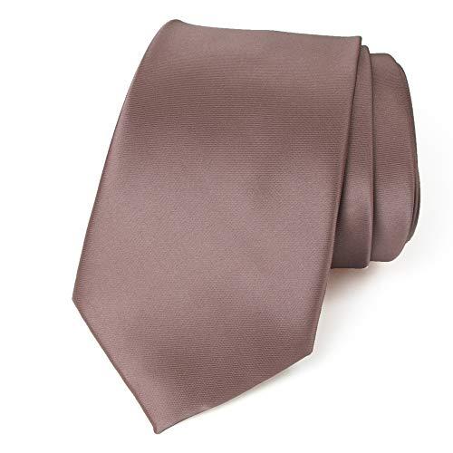 Spring Notion Men's Solid Color Satin Microfiber Tie, Regular Dusk (Spring Usp)