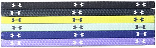 Under Armour Girls' Graphic Headbands - 6 Pack, Black/Smash Yellow, One Size Fits All by Under Armour (Image #1)
