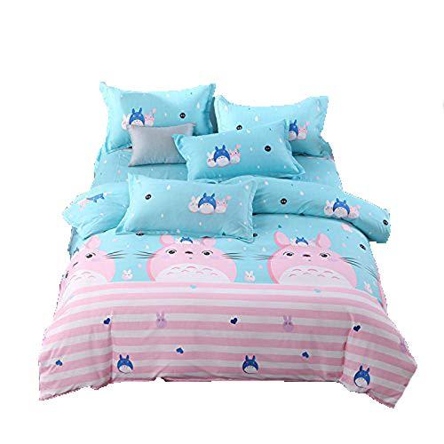 Bedding 4pcs/Set Flat Bedsheet Duvet Cover No Comforter Pill