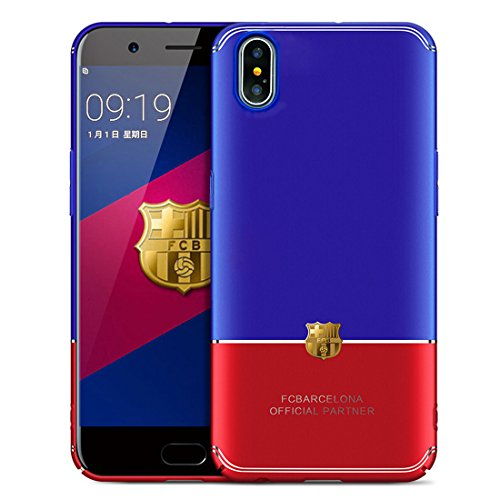 Barcelona World Cup (iPhone X Case For the World Cup Barcelona,WXD Luxury iPhone Back Anti-Scratch Bright Ultra-Thin Bumper Case Cover Blue & Red [Ultra Thin][Slim Fit][Hard PC] for Apple iPhone X)