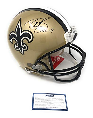 Drew Brees New Orleans Saints Signed Autograph Full Size Authentic Proline Helmet Steiner Sports Certified from Mister Mancave