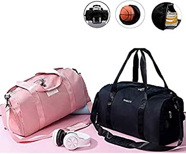 Medium Sports Gym Bag for Workout with Wet Pocket & Shoes Compartment Packable Travel Duffel Bag for Men and Women