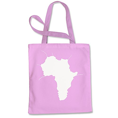 Tote Bag Faces of Africa African American Pride History Pink Shopping Bag by FerociTees