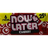 Now & Later Chewy Candy, Cherry, 24 Count (Pack of 12)