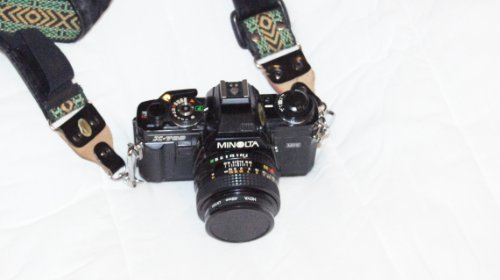 Minolta X-700 35mm Film SLR with Minolta MD 50mm 1:2 Manual Focus Lens (Best Lens For Minolta X 700)