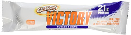 ISS Oh Yeah! Victory Bar Cookies & Cream 12 ct(2.29 oz (65 g) per Bar) by OhYeah!