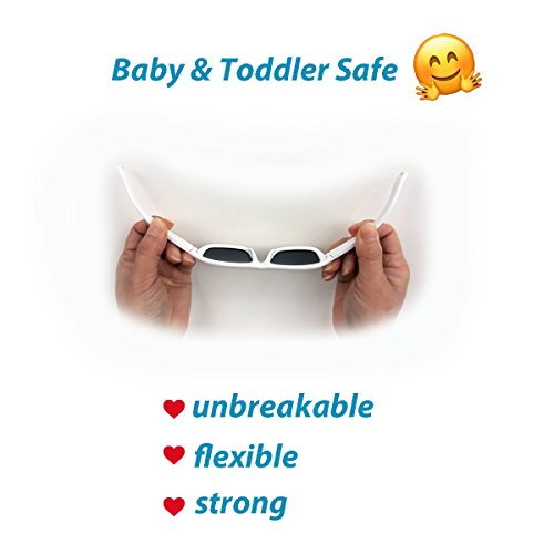 Baby Toddler Polarized Sunglasses With Strap 100% UV Block (M: 2-6Y, Blue) by JAN & JUL (Image #2)