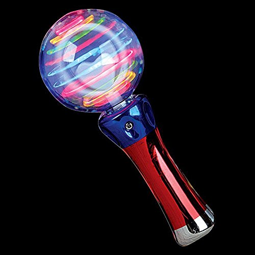 Flashing Panda Meteor Storm LED Changing Pattern Spinner Wand