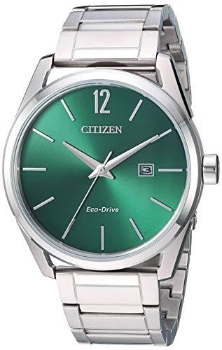 Citizen Men's Eco-Drive Japanese-Quartz Stainless-Steel Strap, Silver, 21 Casual Watch (Model: BM7410-51X)