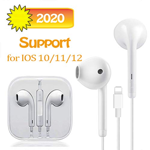 Suearpost Earbuds, Microphone Earphones Stereo Headphones Noise Isolating Headset Compatible with iPhone 8/8 Plus/XS/X/XS Max/XR/11/11 Pro Max/7/7 Plus Earphones