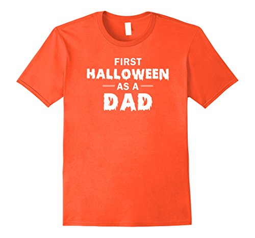 Mens First Halloween As A Dad Happy New Dad Shirt Large Orange