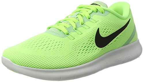 Nike Women's Free Rn Low-Top Sneakers Green (Ghost Green/Fresh Mint/Off White/Black) HIHWFQK