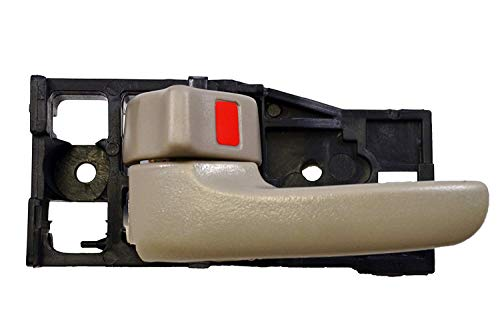 Eynpire 8021 Left Driver Side Interior Inside Inner Door Handle Beige For 2004 2005 2006 Toyota Tundra (Crew Cab ONLY)