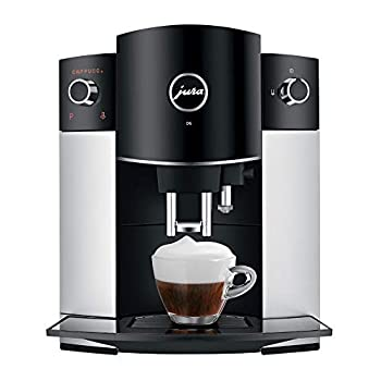 Jura D6 Automatic Coffee Machine 15216 Platinum and Glass Milk Container Bundle (2 Items)