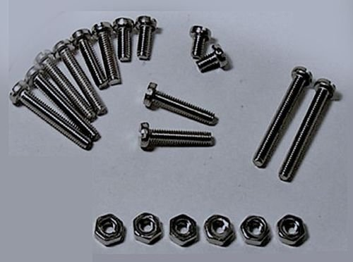 PHONO CARTRIDGE HEADSHELL MOUNTING STAINLESS SCREW SET