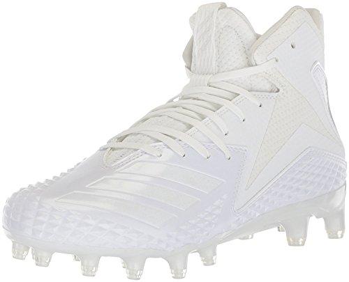 adidas Men's Freak x Carbon Mid Football Shoe, White/White/White, 17 M US by adidas